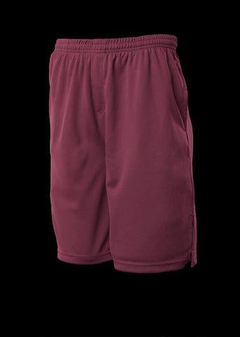 Kids Sports Shorts - Maroon