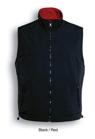 Mens Reversible Vest - Black/Red