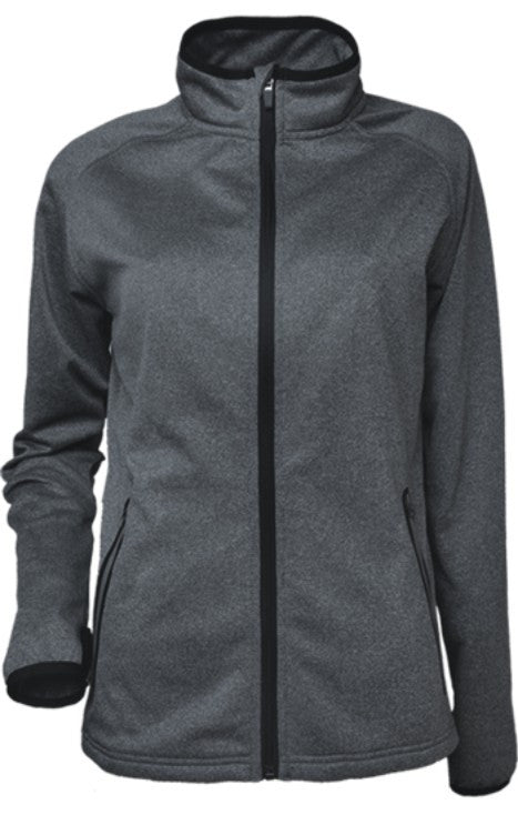 Ladies Fleece Jacket - Marle/Black