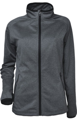 Ladies Fleece Zip Jacket - Marle/Black