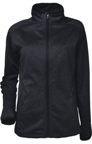 Ladies Fleece Zip Jacket - Black