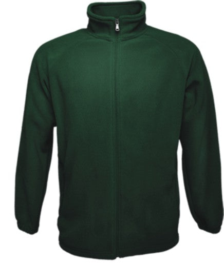 Mens Polar Fleece Jacket - Bottle Green