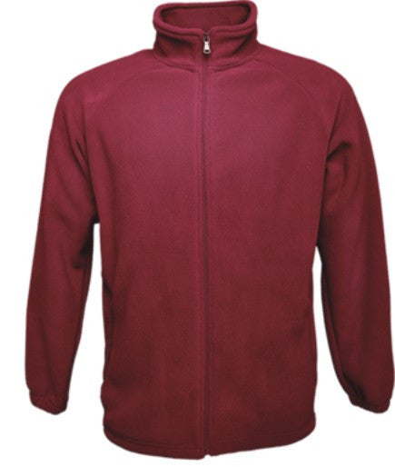 Mens Polar Fleece Jacket - Maroon