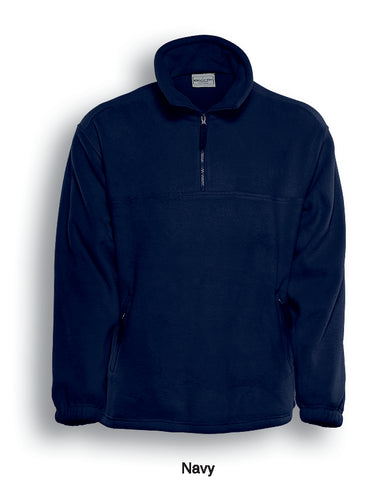 Mens 1/2 Zip Polar Fleece Jacket - Navy