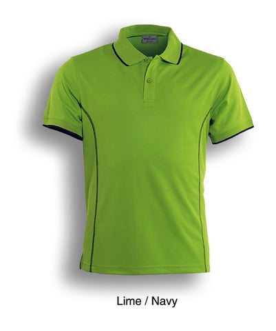 Essentials Golf S/S Polo - Lime/Navy