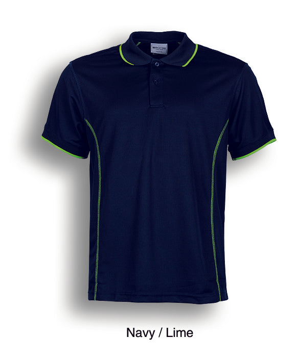 Essentials Polo - Navy/Lime