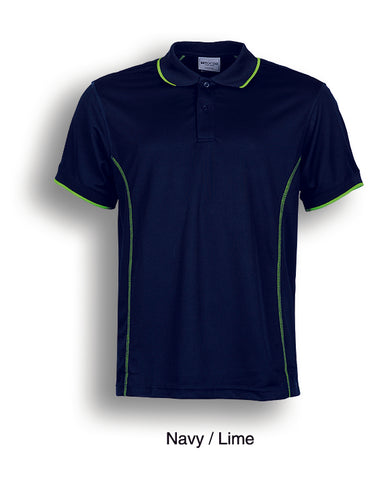 Essentials Golf S/S Polo - Navy/Lime