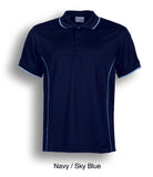 Essentials Polo - Navy/Sky Blue