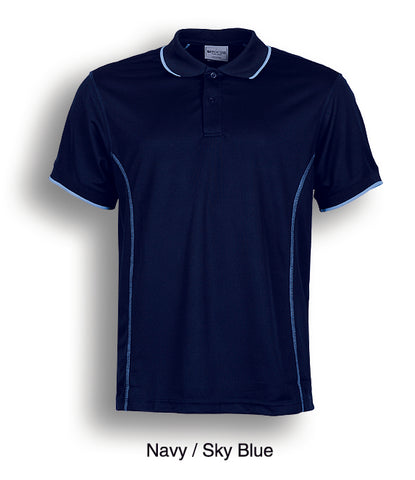 Essentials Golf S/S Polo - Navy/Sky