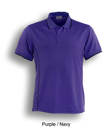 Essentials Golf S/S Polo - Purple/Navy