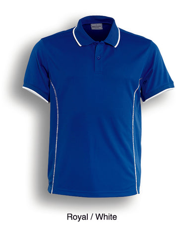 Essentials Golf S/S Polo - Royal/White