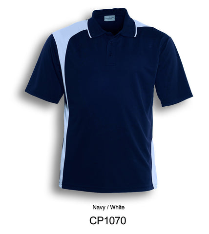 Asymmetrical Golf Polo- Navy/White