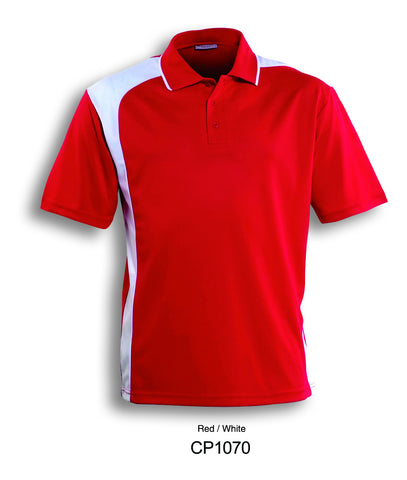 Asymmetrical Golf Polo- Red/White