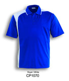 Asymmetrical Polo - Royal/White