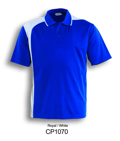 Asymmetrical Golf Polo- Royal/White