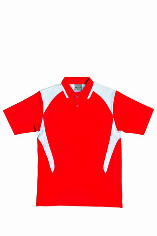 Active Golf Polo _ Red/White