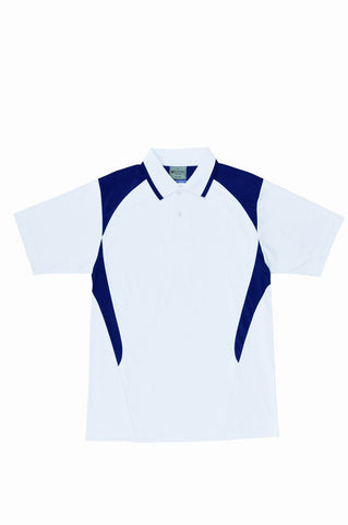Active Golf Polo - White/Navy