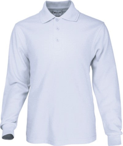 Basic Golf LongSleeve Polo - White