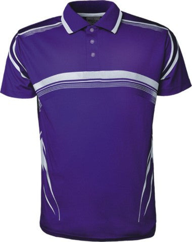 Sublimated Golf Polo - Purple/White