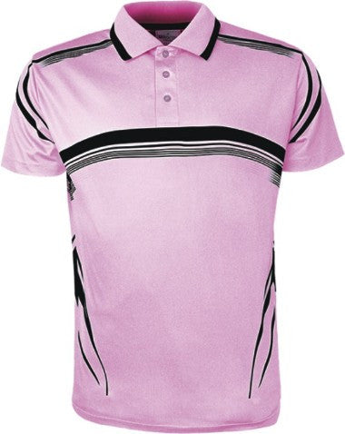 Sublimated Golf Polo - Pink/Black