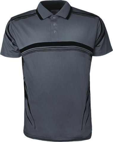 Sublimated Golf Polo - Grey/Black