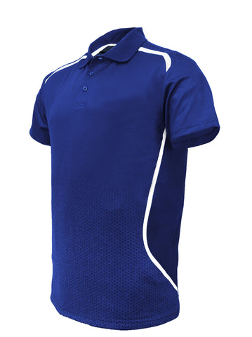 Sublimated Sports Golf Polo -Royal/White