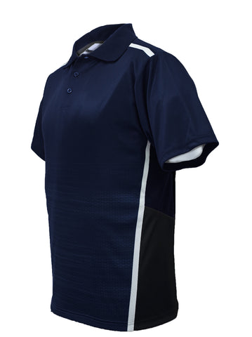 Sublimated Panel Golf Polo - Navy/Black