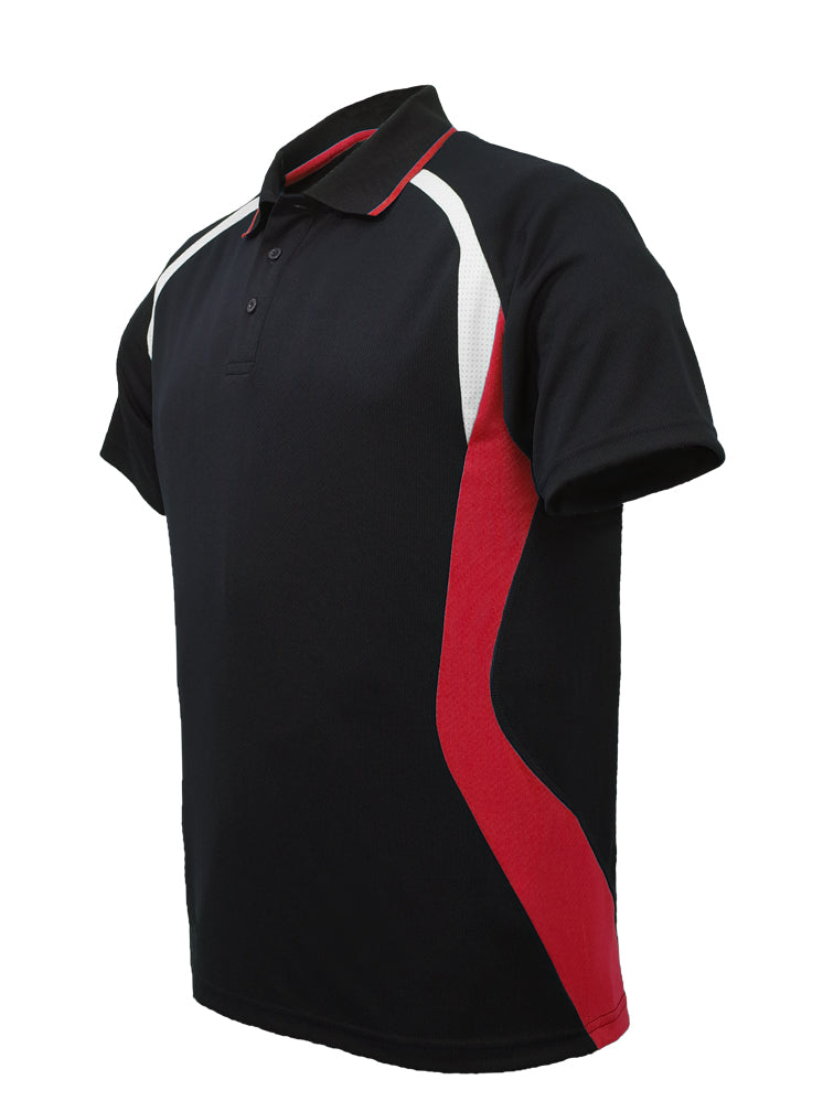 Sports Polo - Black/Red/Wht