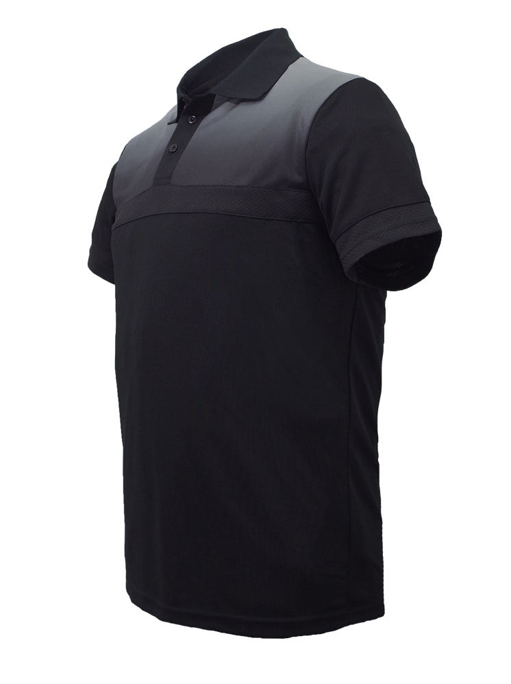 Sublimated Polo - Black/Grey