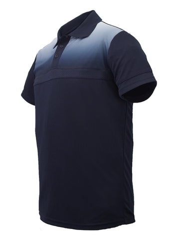 Sublimated Casual Polo - Navy/White