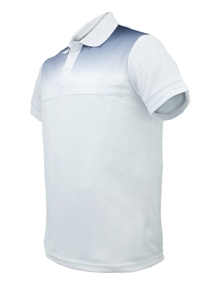 Sublimated Polo - White/Navy