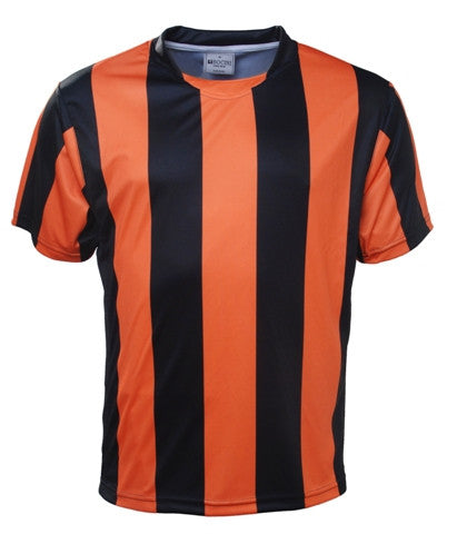 Kids Striped Football Jersey - Black/Orange