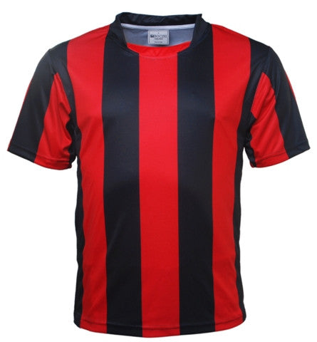 Kids Striped Football Jersey - Black/Red