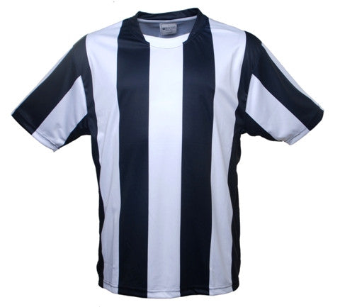 Kids Striped Football Jersey - Black/White