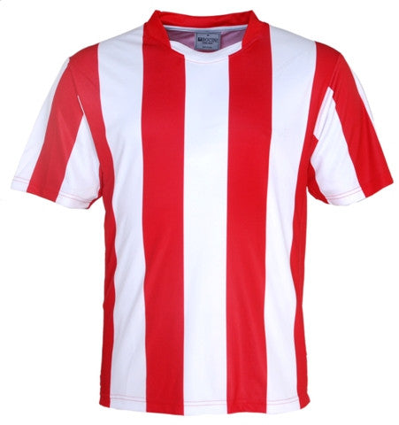 Kids Striped Football Jersey - Red/White