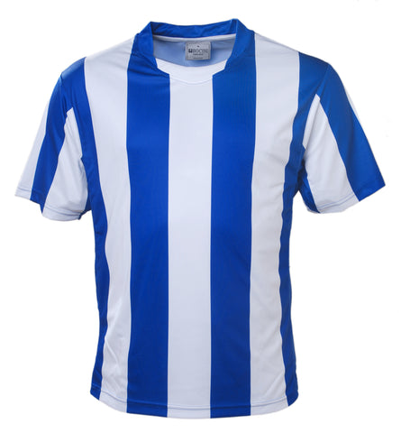 Kids Striped Football Jersey - Royal/White