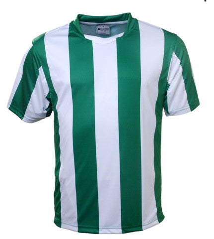 Kids Striped Football Jersey - Green/White