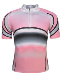Ladies Cycling Jersey - Pink/Black/White