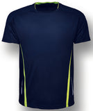 Kids elite Tee - Navy/Lime