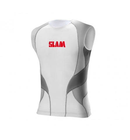 Slam Sleeveless Rash Shirt - White/Grey