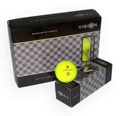 Vision Pro Tour V Golf Balls - UV Yellow - 1 Dozen