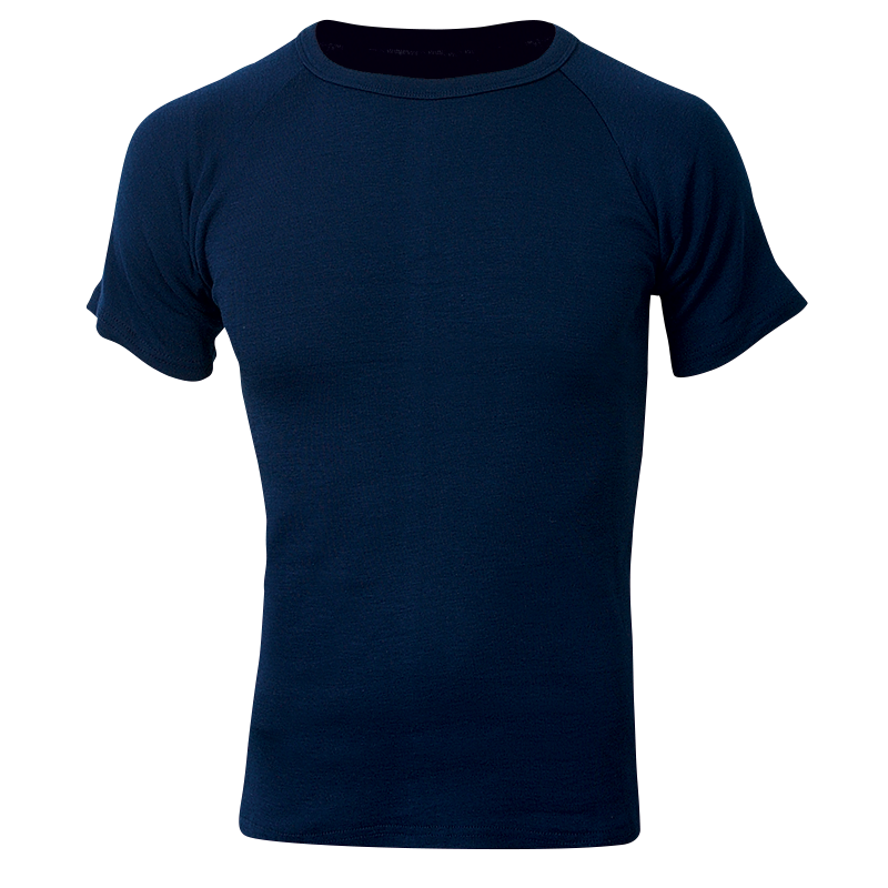 Sherpa Shortsleeve Polypro Top - Navy