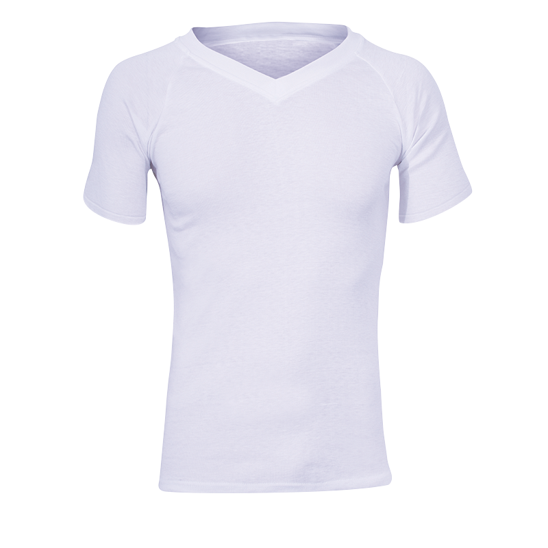 Sherpa Shortsleeve Polypro V-Neck Top - White