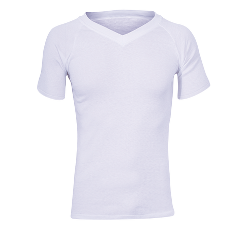 Polypro Shortsleeve V-Neck Thermal Top - White