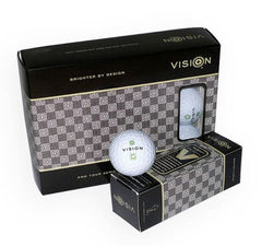 Vision Pro Tour V - White Golf ball - 2 Dozen