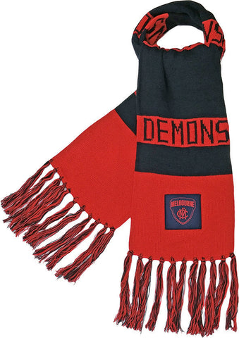 Melbourne Demons Traditional Bar Scarf 2018