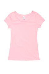 Ladies Cotton/Spandex T-Shirt - Pink