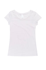 Ladies Cotton/Spandex T-Shirt - White