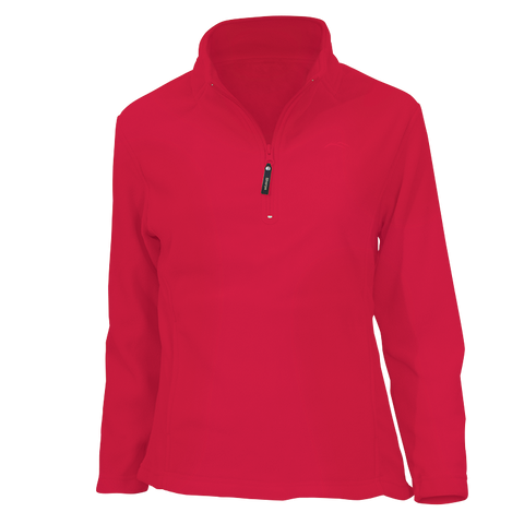 Sona Lightweight Fleece Top - Ruby