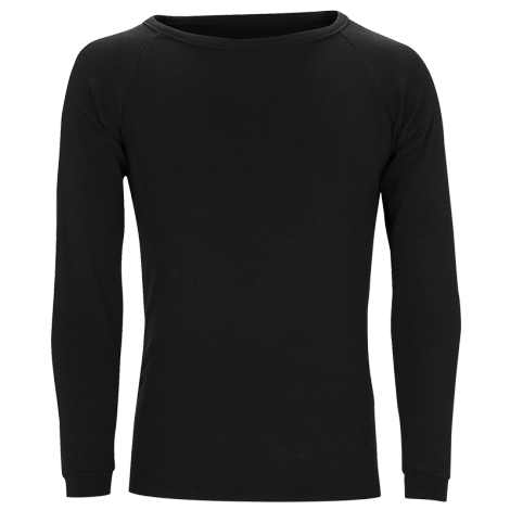 Merino Wool Longsleeve Thermal Top - Black